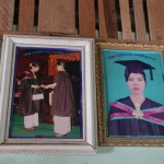 Burma has high literacy rates with 98 per cent of 15-24-year-olds able to read and write. As many girls as boys receive a secondary education and many go on to university, like the woman whose diploma is celebrated in these pictures